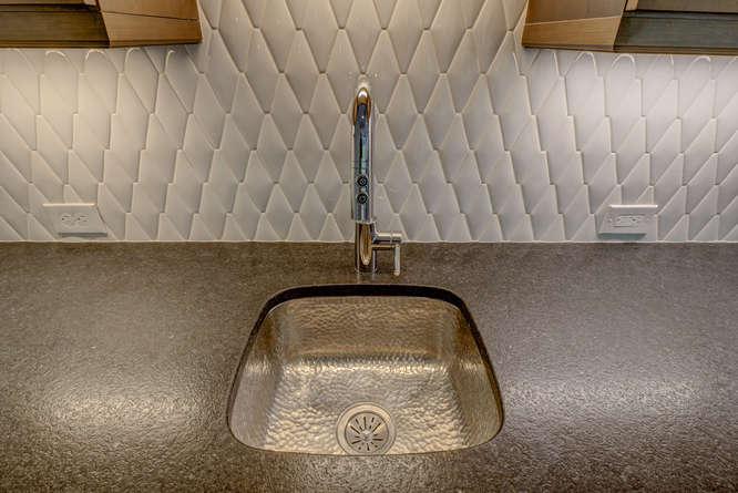 Hammered Metal Sink